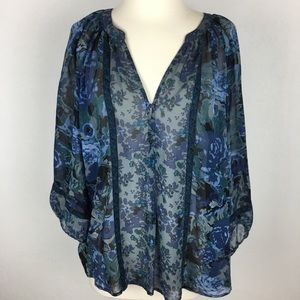Joie Silk Blouse size Large